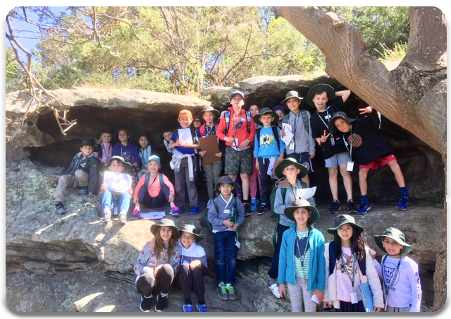 Students at Balls Head Reserve